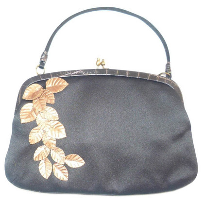 Emanuel Ungaro Evening bag with gold leaves