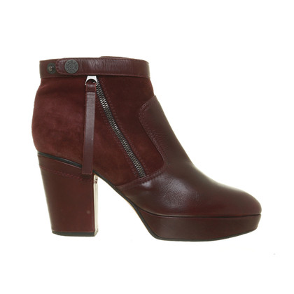 Acne Bordeauxfarbene ankle boots with stiletto heel