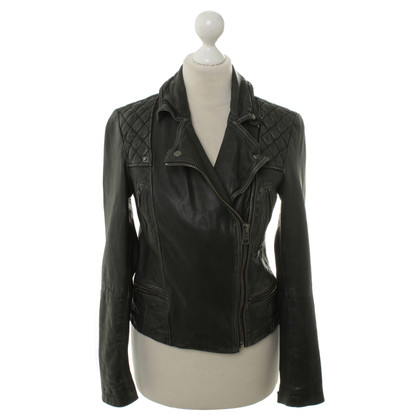 All Saints Bikerjacke vintage-look