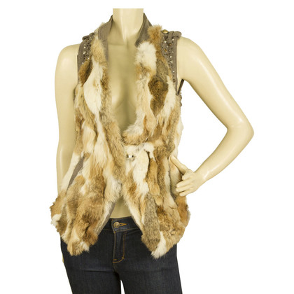 Patrizia Pepe Fur vest rabbit fur