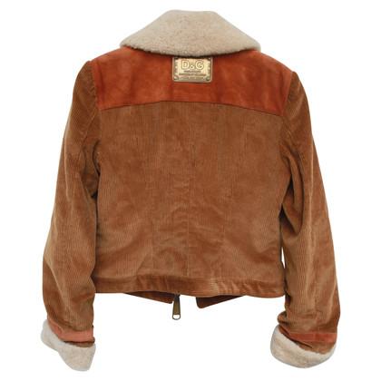 Dolce & Gabbana Jacket made of leather / velvet