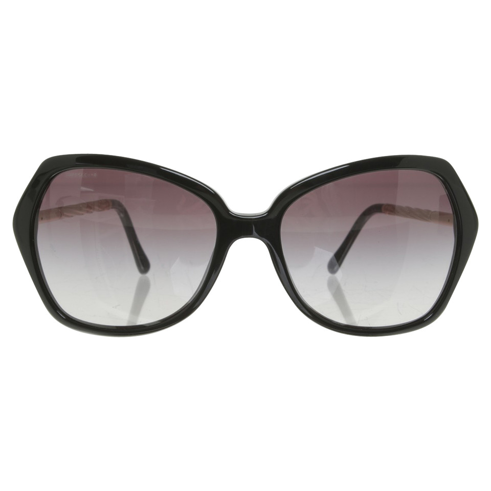 burberry sonnenbrille in schwarz second hand burberry. Black Bedroom Furniture Sets. Home Design Ideas