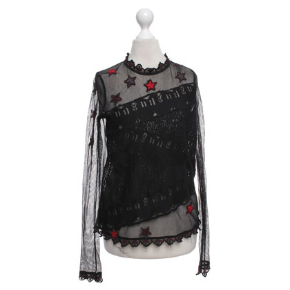 Zadig & Voltaire Mesh top with embroidery