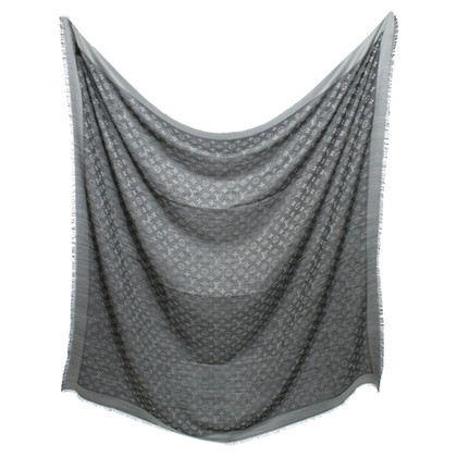 Louis Vuitton Monogram Denim panno in bianco / nero