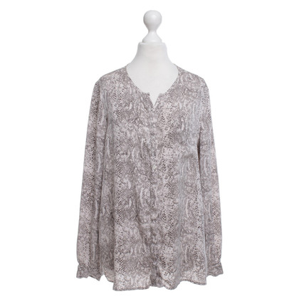 Repeat Cashmere Bluse mit Animal-Print