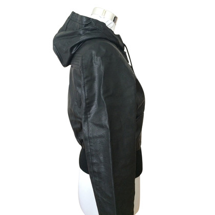Lauren Scott Leather jacket with hood