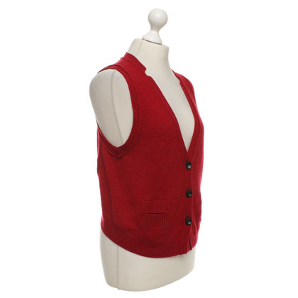 j park Cashmere gilet in rosso