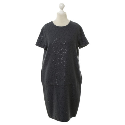 Brunello Cucinelli Short sleeve dress with sequins