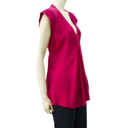 Donna Karan Sleeveless collo Una linea superiore di seta 100% V