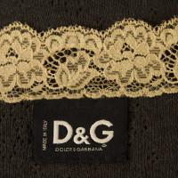 Dolce & Gabbana Gray lace top