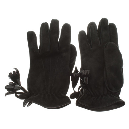 Louis Vuitton Leather gloves in black