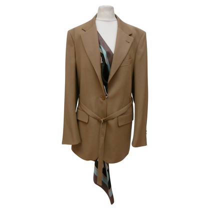 Dries van Noten Camel longblazer