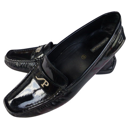 Pollini Patent leather loafers