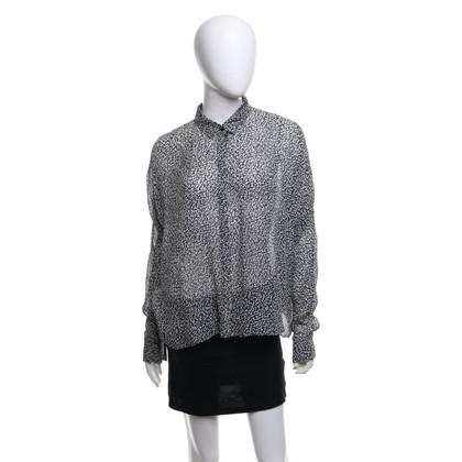 Dorothee Schumacher Silk blouse in black / white