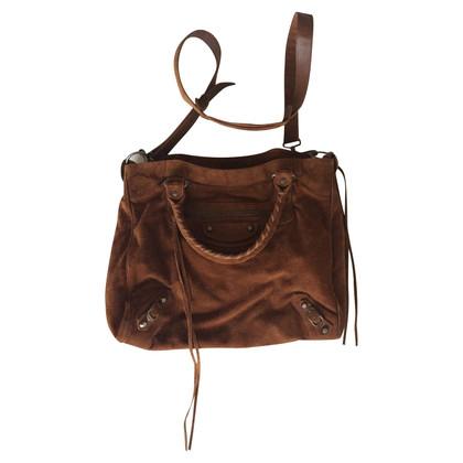 Balenciaga Suede Tote Bag