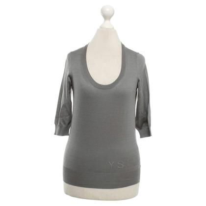 Yves Saint Laurent Fine Knitting top in grey