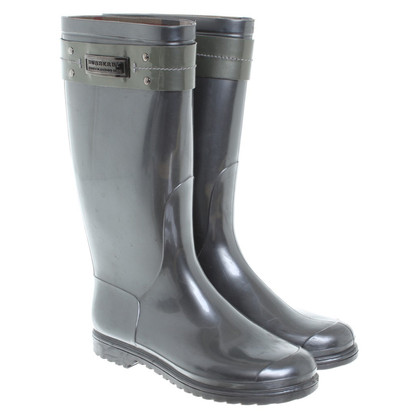Burberry Silver-colored rubber boots