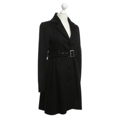 Patrizia Pepe zwart wol jas
