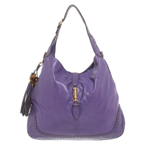 24ef63791c61 Gucci Jackie Soft Hobo Leather in Violet - Second Hand Gucci Jackie ...