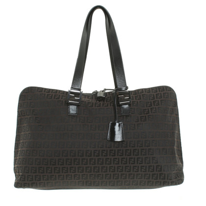 Fendi Shopper with logo pattern