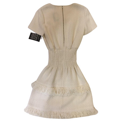 Maje Nuovo formato del Maje tweed bianco vestito 1