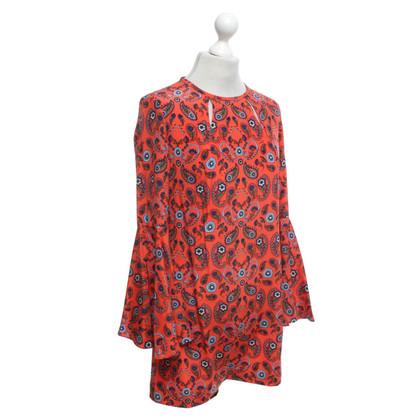 Issa zijden jurk met patroon