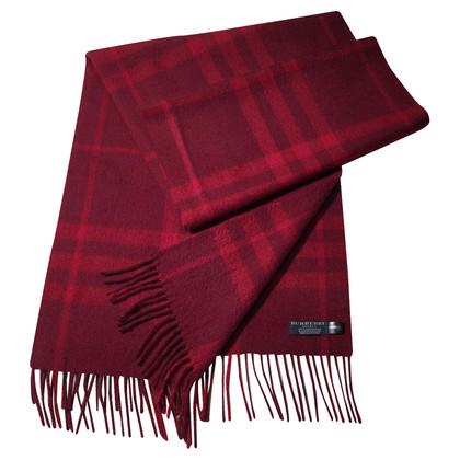 Burberry Bordeaux kasjmier sjaal