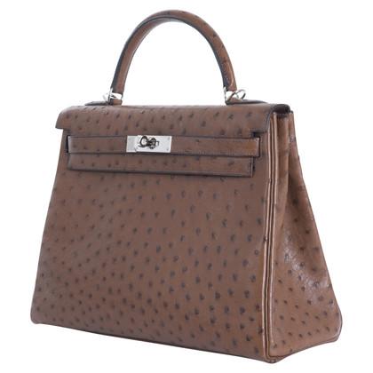 "Hermès ""Kelly Bag 32"" in pelle di struzzo"