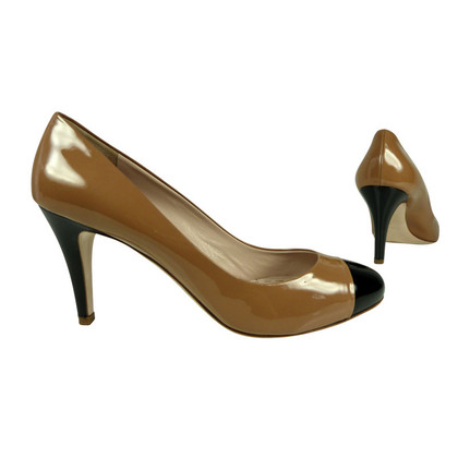 Miu Miu Two-tone patent leather pumps