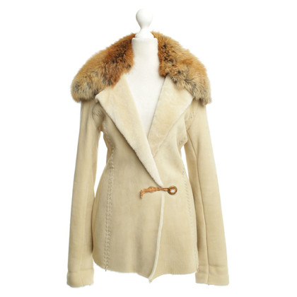 Ermanno Scervino Suede jacket with fur collar