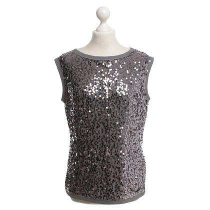 Ted Baker camicia sequined grigio