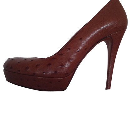 Gucci High Heels from ostrich leather