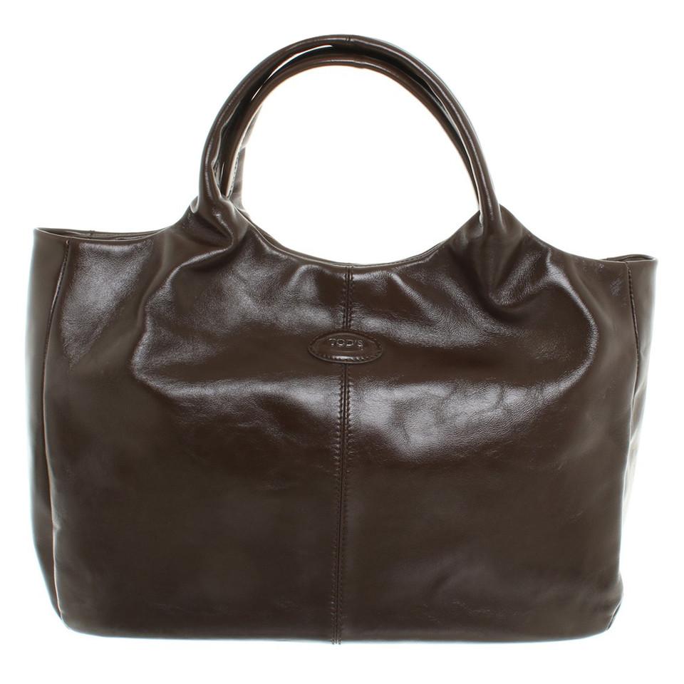 tod 39 s handtasche in dunkelbraun second hand tod 39 s handtasche in dunkelbraun gebraucht kaufen. Black Bedroom Furniture Sets. Home Design Ideas
