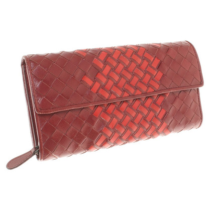 Bottega Veneta Portemonnaie in Rot