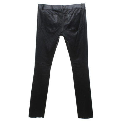 Jitrois Pantalon en cuir en noir