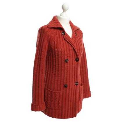 Loro Piana Vest in baksteen rood