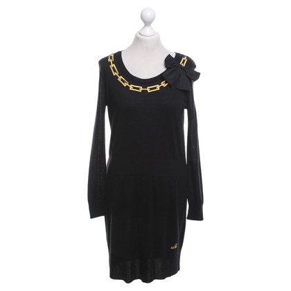 Moschino Love Robe en maille en noir / or