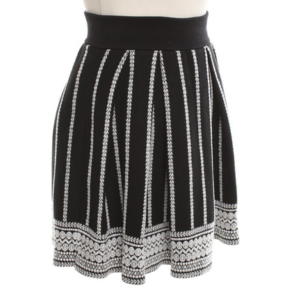 Maje skirt in black and white