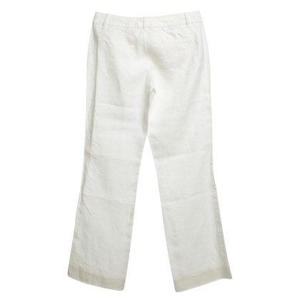 Red Valentino Linen trousers in white