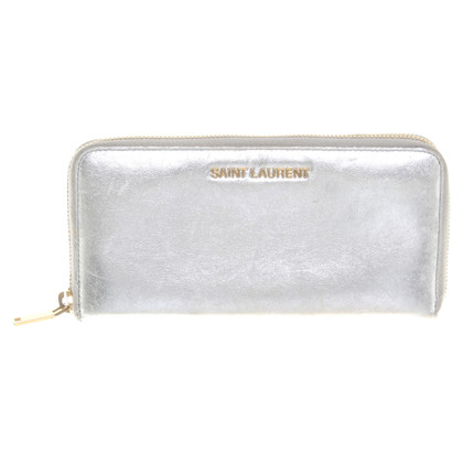 Saint Laurent Silver colored wallet