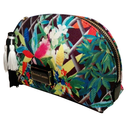 Christian Lacroix Cosmetic bag with floral print