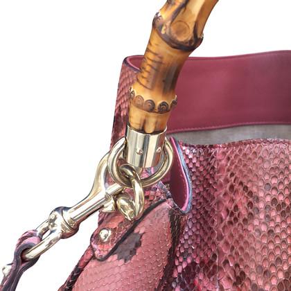Gucci Gucci bamboo python bag