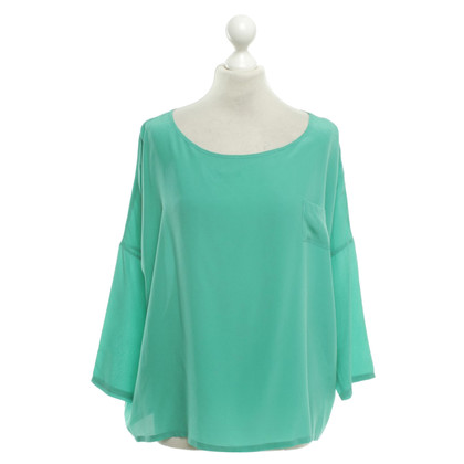 Sack's Silk blouse in green