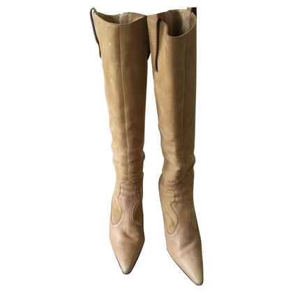 Manolo Blahnik Knee high suede boots