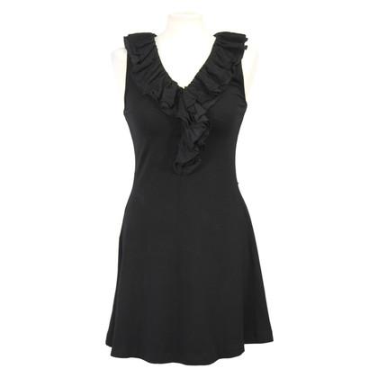 Ralph Lauren Schwarzes Kleid mit Rüschen