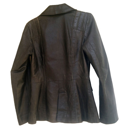 Philosophy di Alberta Ferretti PHILOSOPHY BLACK LEATHER JACKET