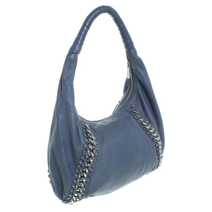 Michael Kors Hobo bag in blue with rivets