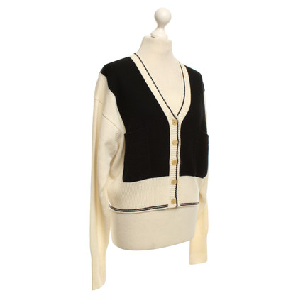 Chloé Cardigan in Black / Crema