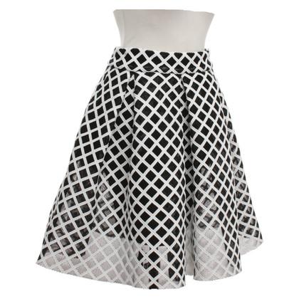 Maje Uitgegeven rok in zwart / wit
