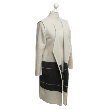 By Malene Birger Oversized coat in cream / anthracite